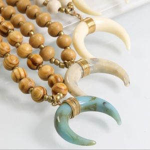 ✨RESTOCKED✨ Turquoise Crescent horn necklace